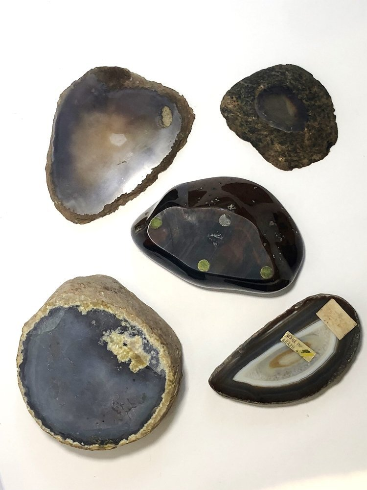 Natural stone ashtrays (five), circa 1970 - 3