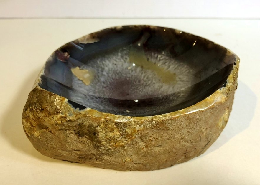 Natural stone ashtrays (five), circa 1970 - 4