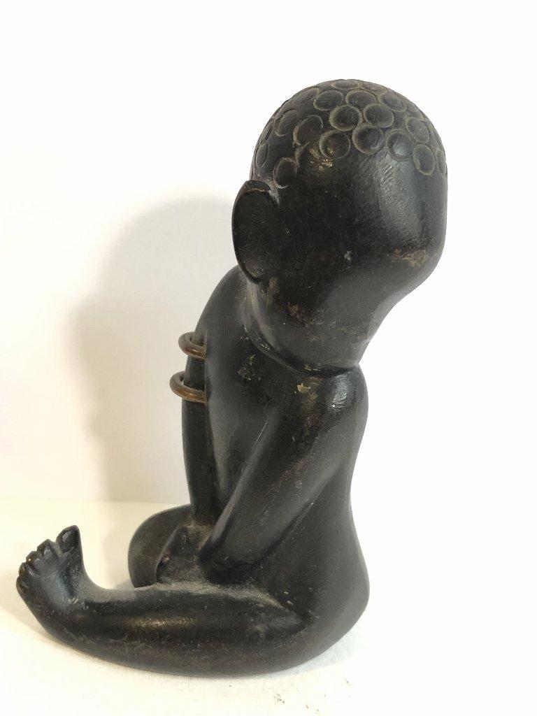 Hagenauer bronze of African baby,c.1925
