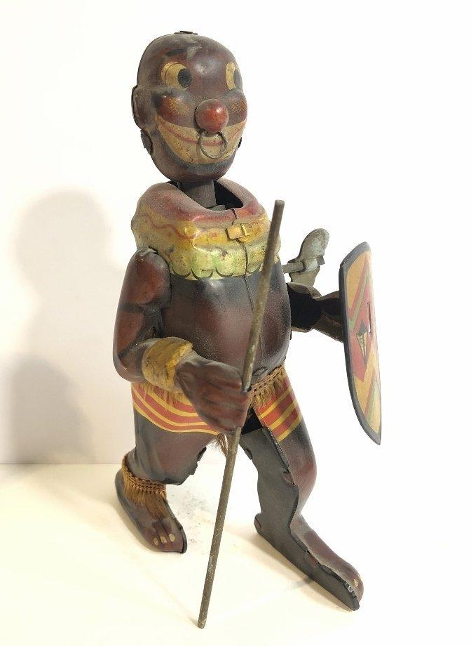 1930's wind up toy, Zulu warrior,Japanese