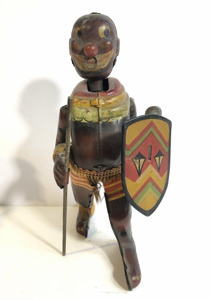 1930's wind up toy, Zulu warrior,Japanese - 2
