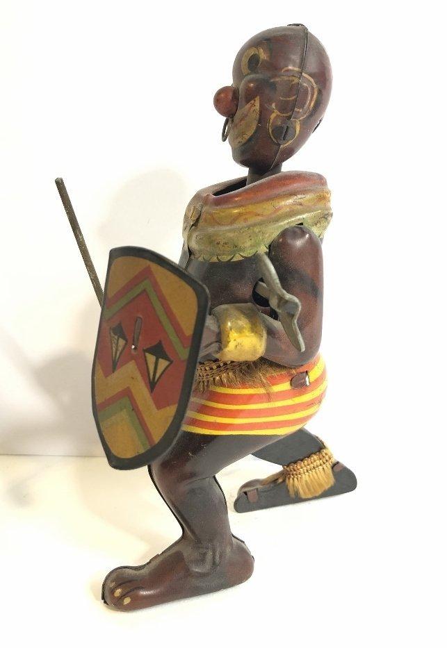 1930's wind up toy, Zulu warrior,Japanese - 3