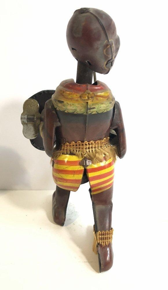 1930's wind up toy, Zulu warrior,Japanese - 5