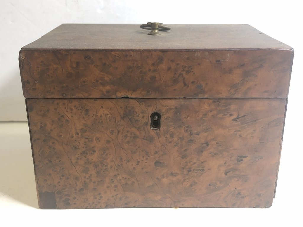 Old wood tea caddy,c.1870