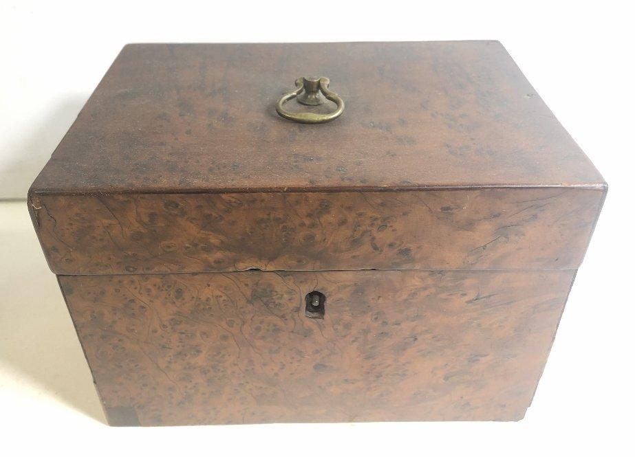 Old wood tea caddy,c.1870 - 2