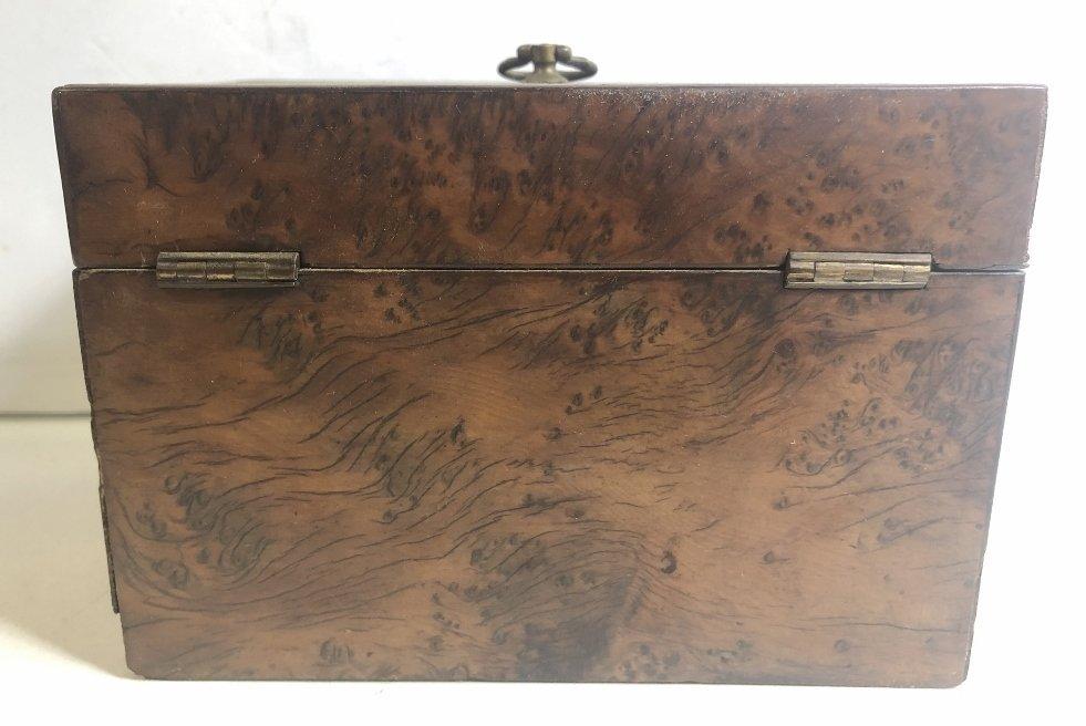 Old wood tea caddy,c.1870 - 5