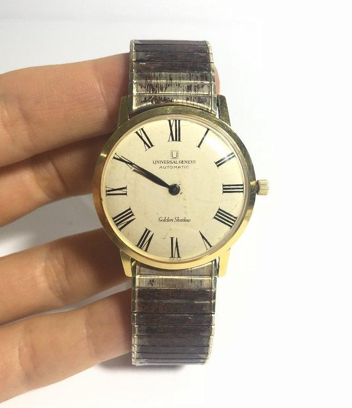 18k Universal Geneve automatic man's wristwatch,1969