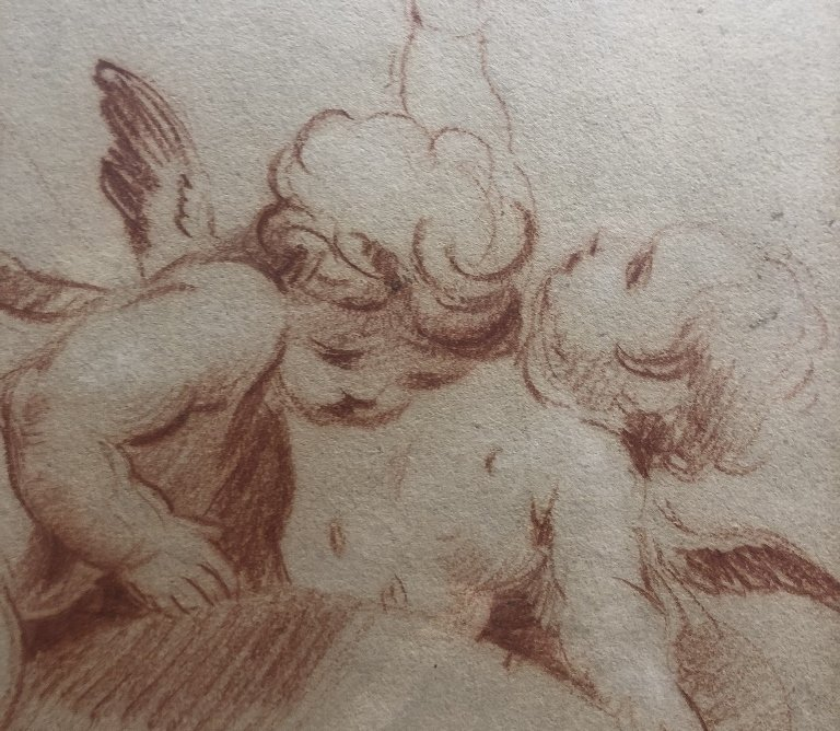 Red crayon drawing after Boucher, 20th - 3
