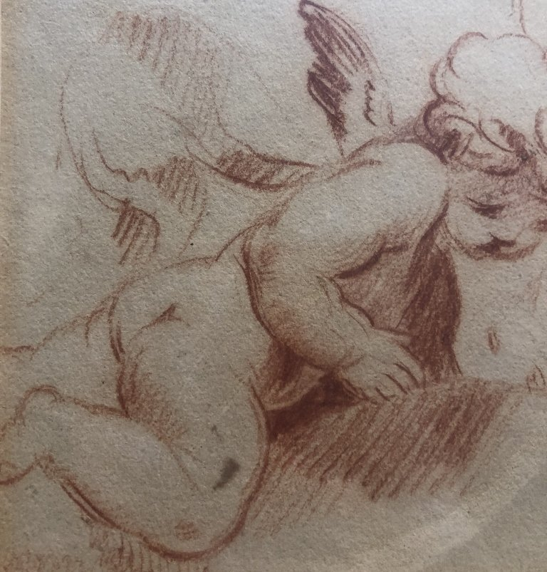 Red crayon drawing after Boucher, 20th - 4