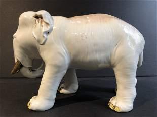 Japanese ceramic elephant, c.1900