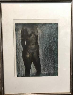 Drawing of nude woman by Xavier Gonzalez