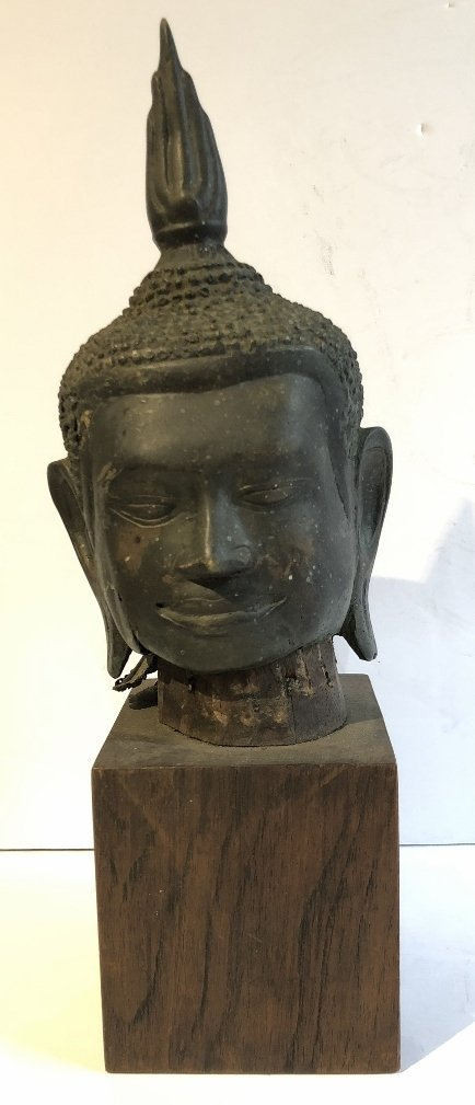 Thai bronze Buddha head, 19th century - 2