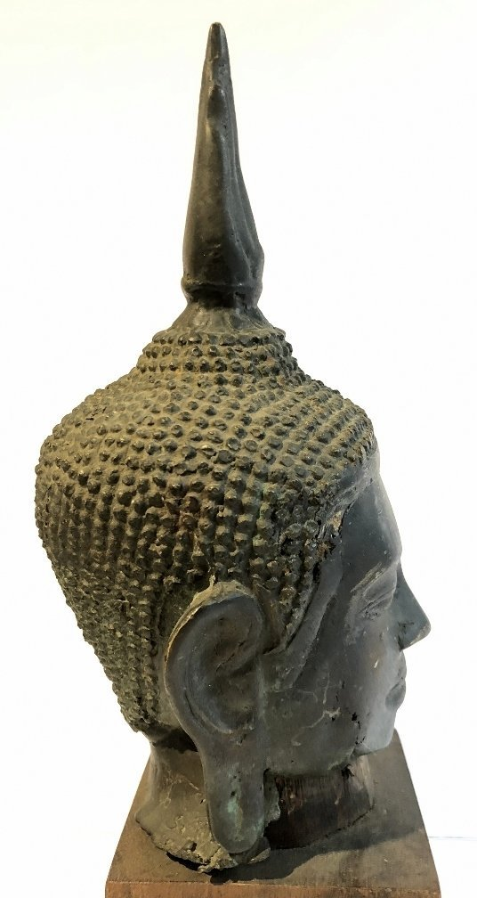 Thai bronze Buddha head, 19th century - 6