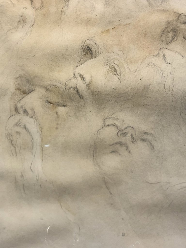 Drawing of faces by Dulla Jorab(?)Paris. - 3