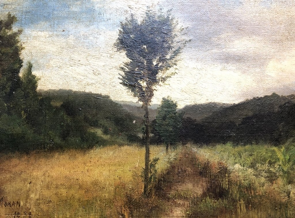 Painting of woods by Mary Nimmo Moran, c.1880 - 3