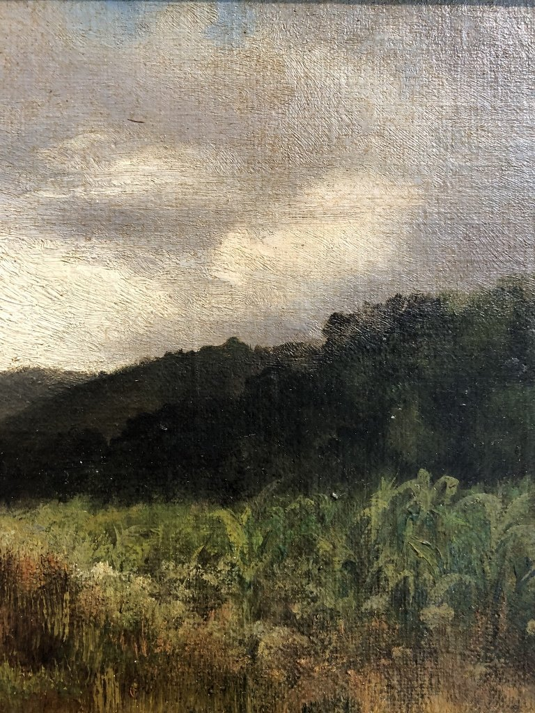 Painting of woods by Mary Nimmo Moran, c.1880 - 4