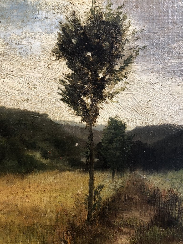 Painting of woods by Mary Nimmo Moran, c.1880 - 5