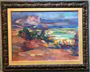 Abstracted landscape ptg by Jean Marzelle(French)