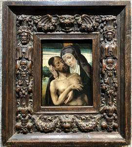 15th/16th cent painting on wood of The Lamentation