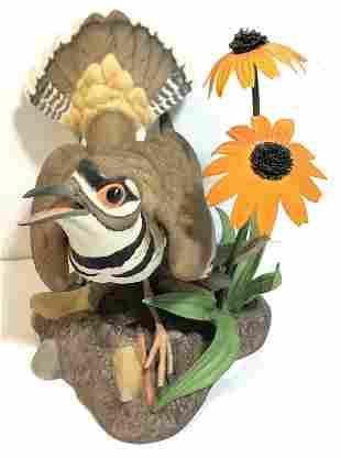 """Boehm porcelain sparrow, circa 1965, 7""""high."""