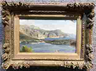 Painting of landscape by Frederic Dufaux (Swiss 19thc)