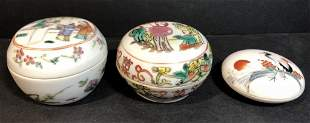 Chinese porcelain boxes(3)