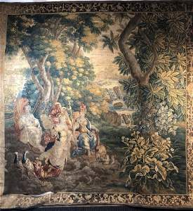17th/18th century handmade European tapestry.