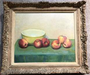 "Painting of apples signed ""A.Rosenthal"", c.1965"
