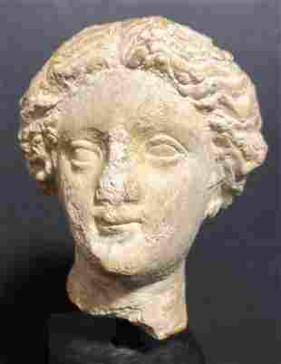 Greek stone head, Classical female, c.200 B.C.