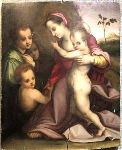16th/17thc painting after Andrea Del Sarto,on wood