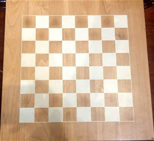 Wood chessboard and pieces
