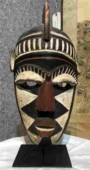 African mask mounted