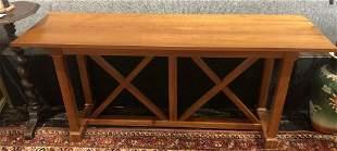 Modern wood hall table