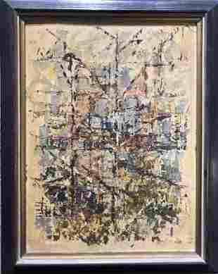 "Abstract painting signed:""Colletta"""
