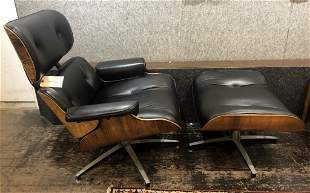 Charles Eames chair and ottoman,circa 1965