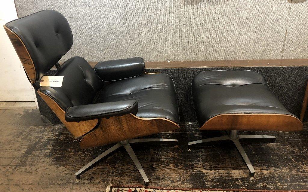 Charles Eames chair and ottoman,circa 1965