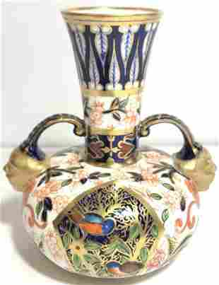 Royal Crown Derby two face small vase,c.1900