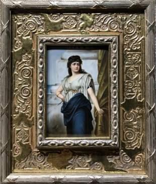 "Porcelain plaque, ""Rebecca"",c.1900"