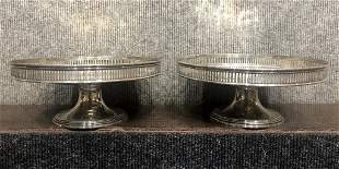 Pair of Tiffany & Co sterling compotes, 29.3 t.oz
