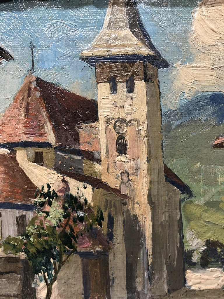 Painting of small town by A.Zimmerman - 4