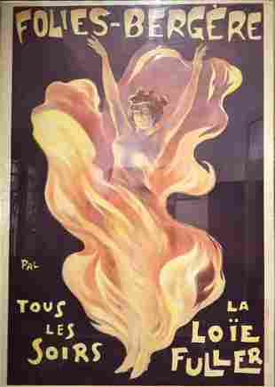 Original French poster by Pal, Folies-Bergere,c.1900