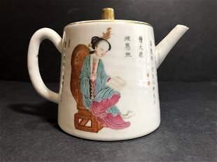 Chinese porcelain teapot, circa 1900