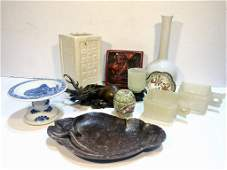 Miscellaneous Chinese items incl bronze deer