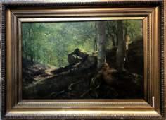 Ptg on board, Faun in forest w/ Fairy, Celesztin Pallya