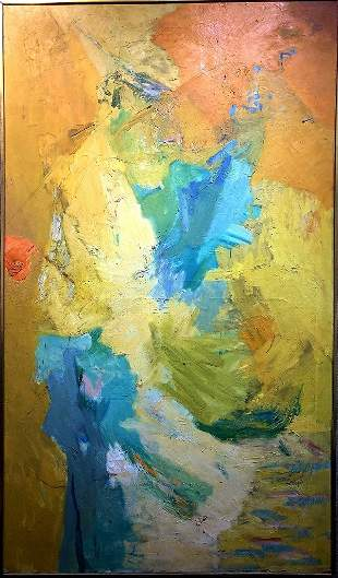 Large abstract painting by Friedman