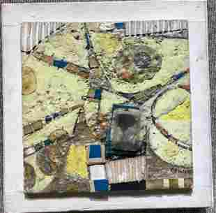 Square mixed media by Victor Candell, c.1965