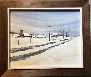 Snow painting by Mildred Burgess