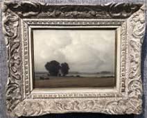 Painting landscape by Pierre de Clausade,c.1920