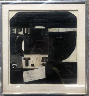 Abstract collage, William Lieberman Estate