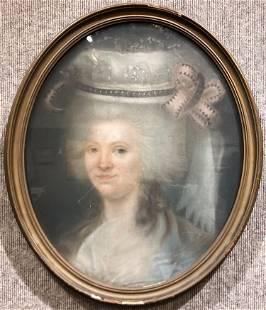 18th century pastel signature illegible
